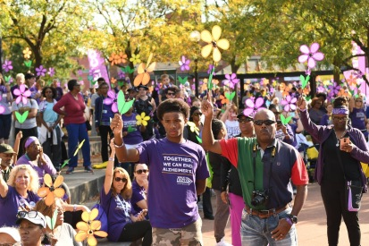 Matthew Willis at the Dayton Walk to End Alzheimer's